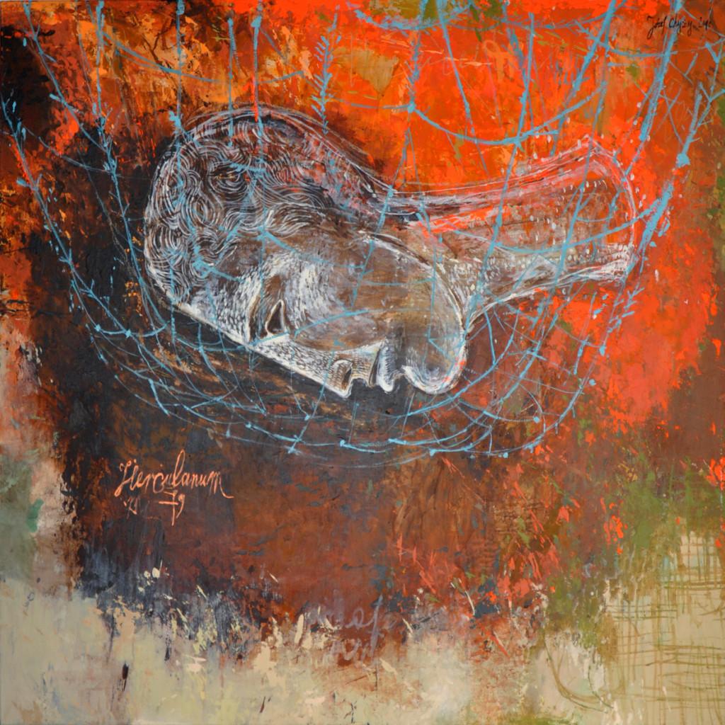 Józef Chyży Herculanum, 2010, 100x 100 cm akryl na płótnie