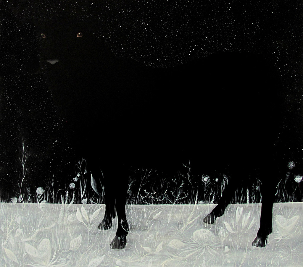 Dawid Czycz , Czarna owca 80x90, olej płótno, 2014