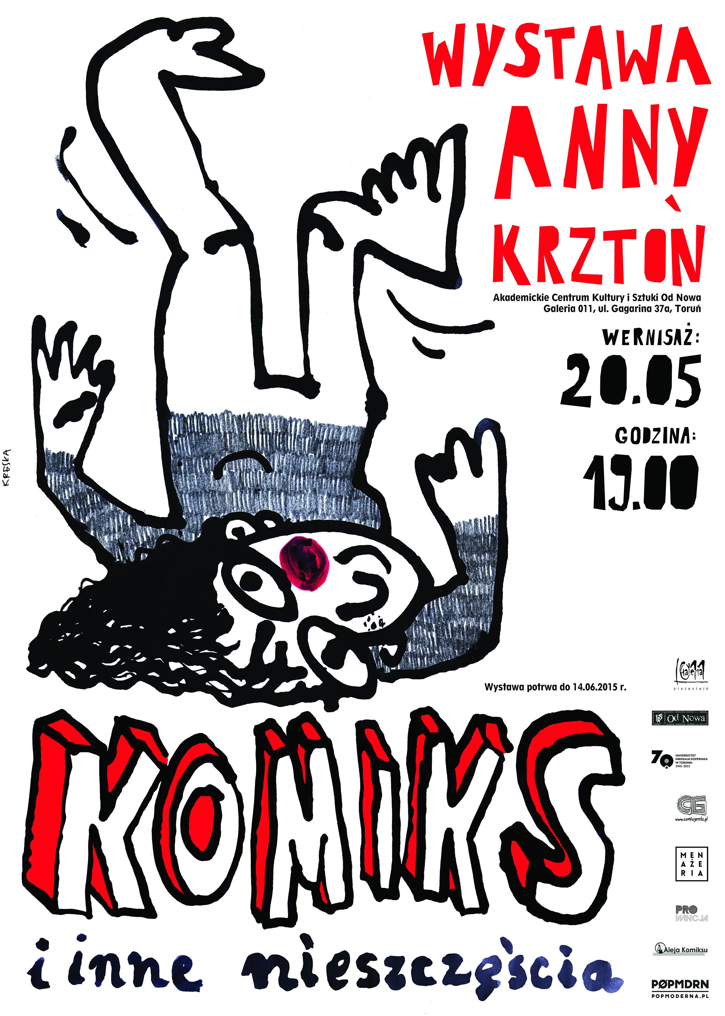 """Wystawa Anny Krztoń """"Komiks i inne nieszczęścia"""""""